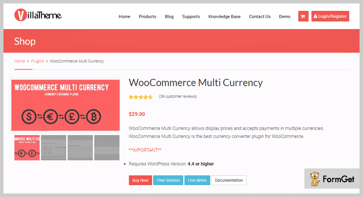 Multi Currency Currency Converter WordPress Plugins