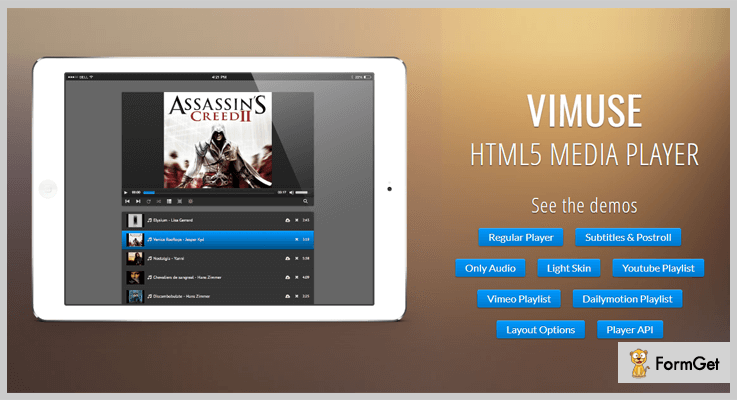 Vimuse jQuery Video Player Plugin