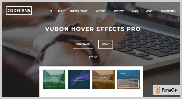 Vubon Hover Effect Pro Hover Effects WordPress Plugin