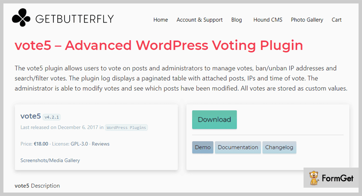 Vote 5 WordPress Election Plugin
