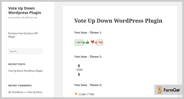 Vote Up & Down WordPress Election Plugin
