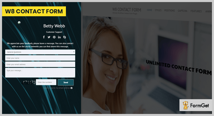 W8 Contact Form Contact Form WordPress Plugin