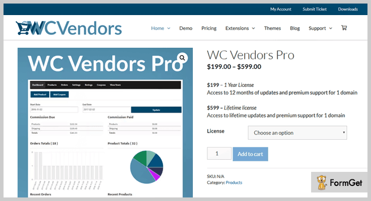 WC Vendors Pro Multi Vendor WordPress Plugin