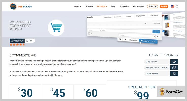 Web Dorado Shopping Cart WordPress Plugin