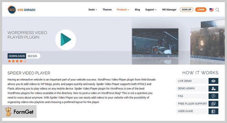Spider Video Player WordPress Playlist Plugins