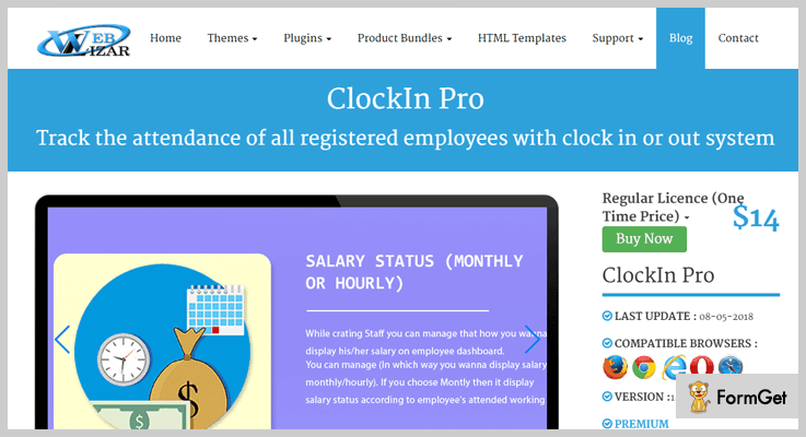 ClockInPro WordPress Attendance Plugins