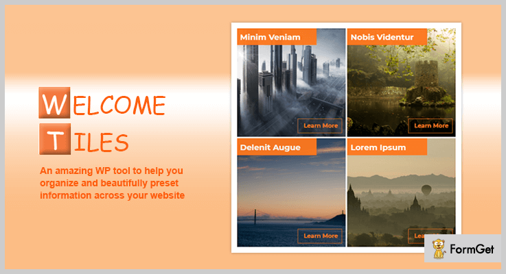 Welcome Tiles Tiles WordPress Plugin