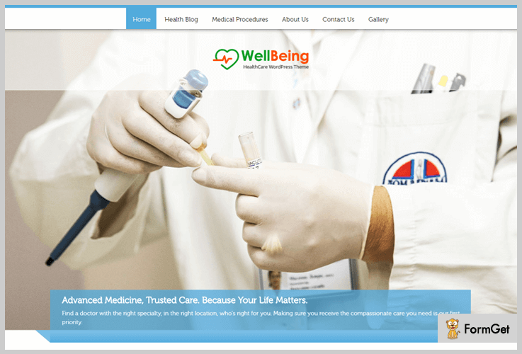 WellBeing Hospital WordPress theme