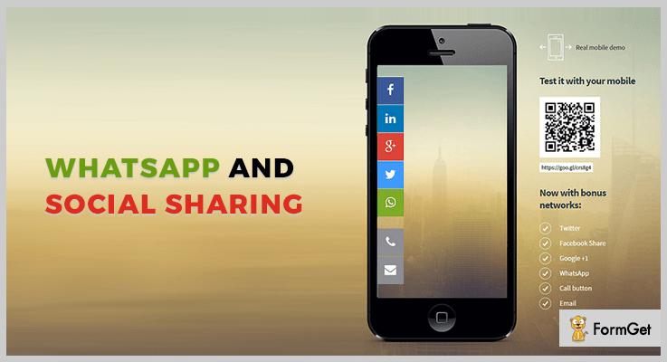 WhatsApp And Social Sharing jQuery Social Media Plugins