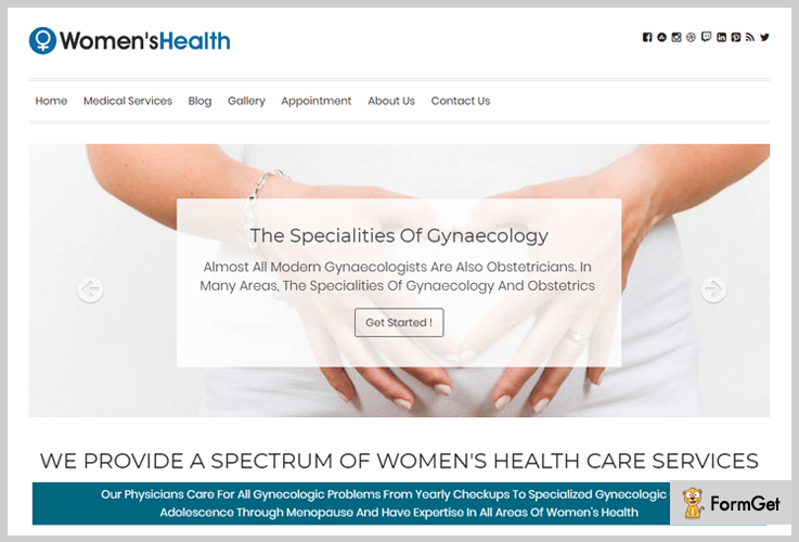 Women's Health WordPress Theme