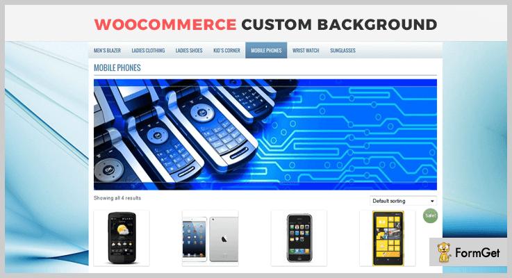 WooCommerce Custom Background WordPress Banner Plugin