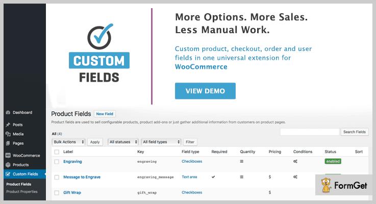 WooCommerce Custom Field Custom Field WordPress Plugin