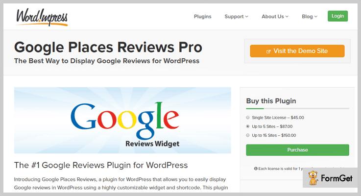 Wordimpress Google Reviews WordPress Plugin