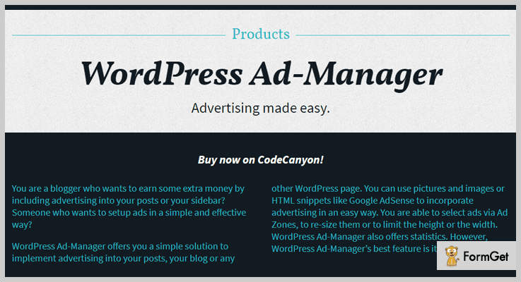 WordPress Ad Manager AdSense WordPress Plugin