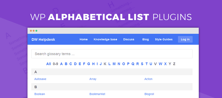WordPress Alphabetical List Plugins