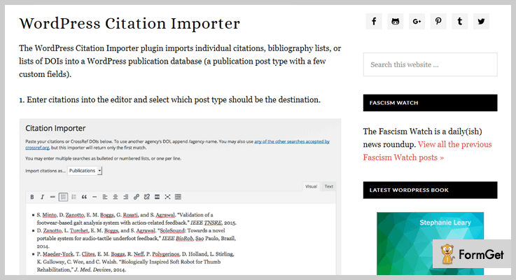WordPress Citation Importer WordPress Citation Plugin