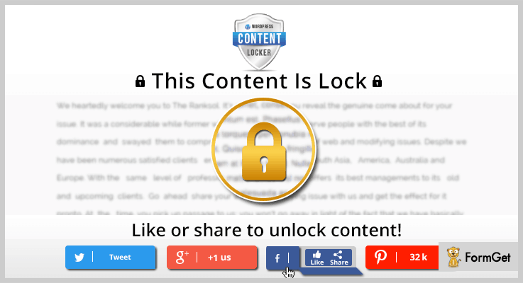 WordPress Content Locker Content Locker WordPress Plugin