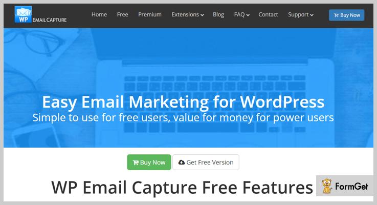 WP Email Capture Mailing List WordPress Plugin