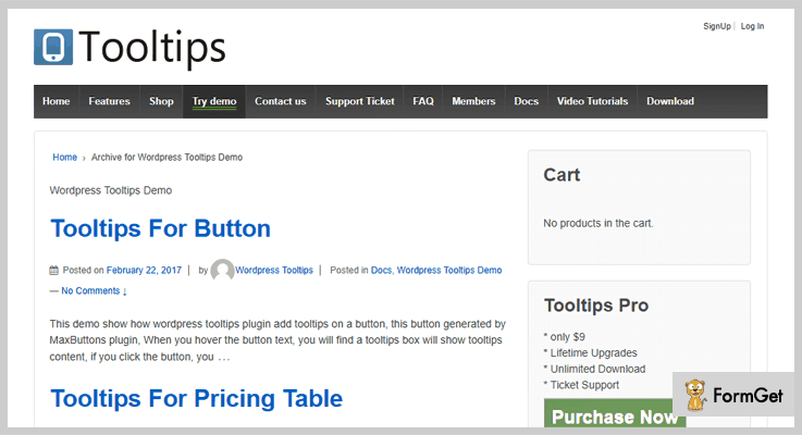 WordPress Tooltips  Plugin for Tooltips
