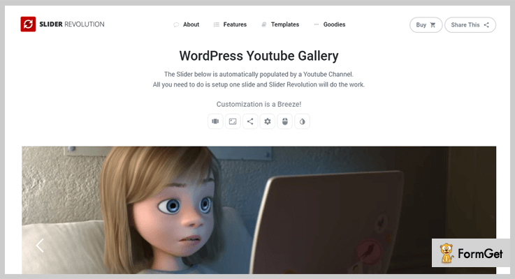 Slider Revolution WordPress YouTube Gallery Youtube Video Slider WordPress Plugins