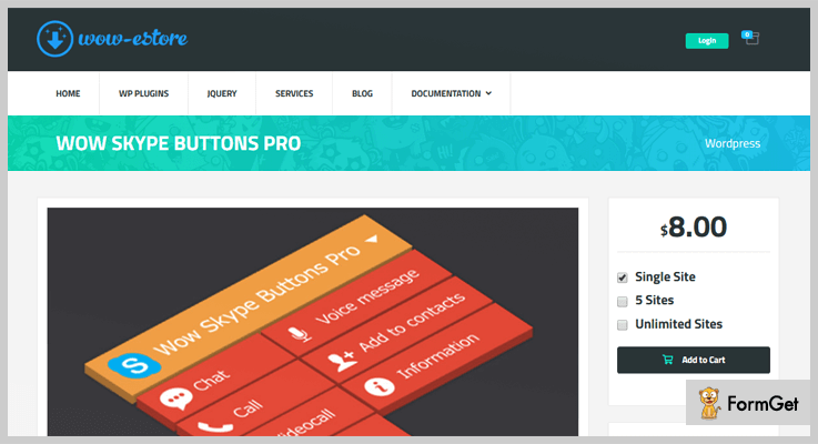 Wow Skype Buttons Pro WordPress Skype Plugins
