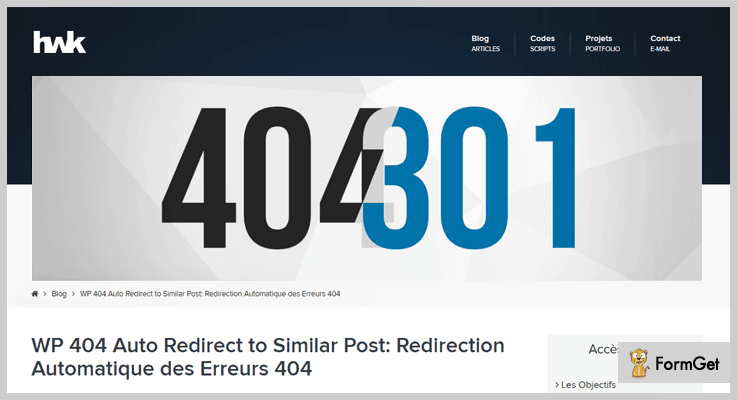 WP 404 Auto Redirect To Similar Post 404 Redirect WordPress Plugin