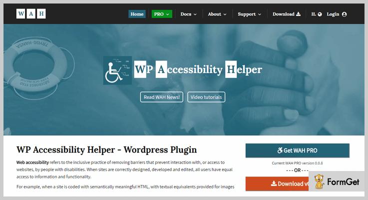 WP Accessibility Helper WordPress Accessibility Plugin