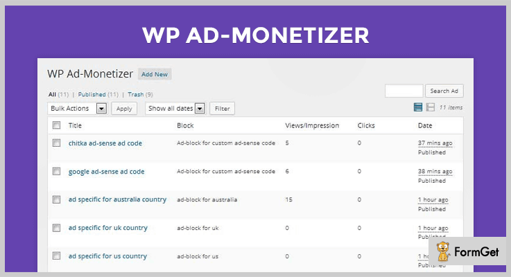 WP Ad Monetizer Monetize WordPress Plugin