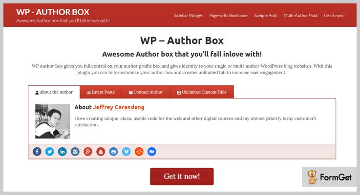 WP Author Box Author Profile WordPress Plugin
