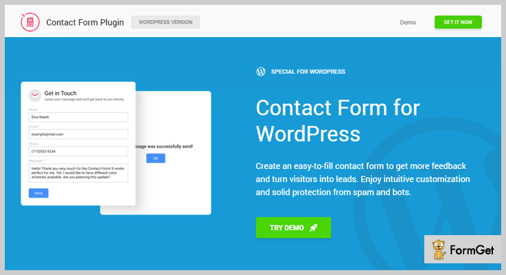WP Contact Contact Us Plugin WordPress