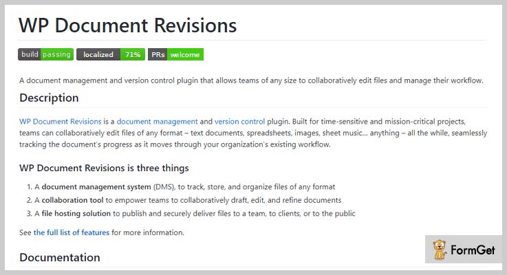 WP Document Revisions Document Management WordPress Plugin
