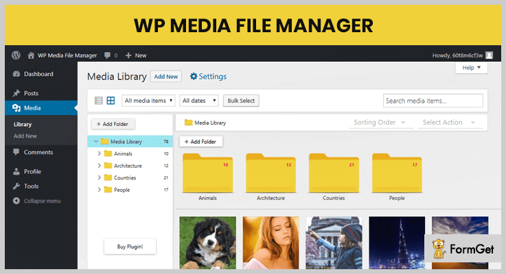 WP Media File Manager WordPress Media Upload Plugin
