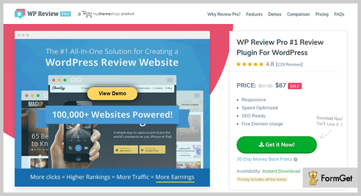WP Review Pro Product Review WordPress Plugin