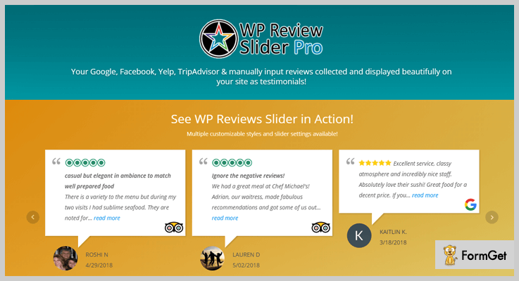 WP Review Slider Pro Google Reviews WordPress Plugin