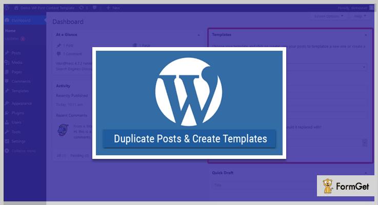 WP TemplateWordPress Duplicate Plugin