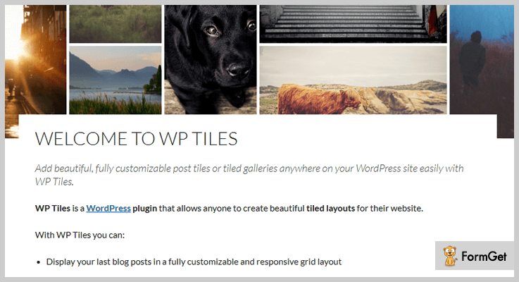 WP Tiles Tiles WordPress Plugin