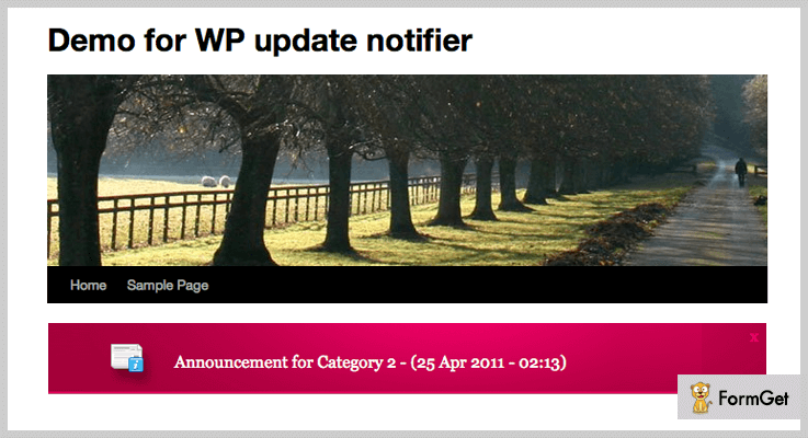 WP Update Notifier Announcement WordPress Plugin