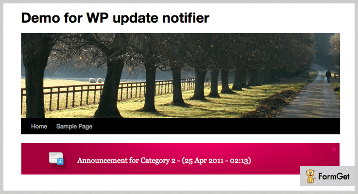 WP Update Notifier Notice Board WordPress Plugin