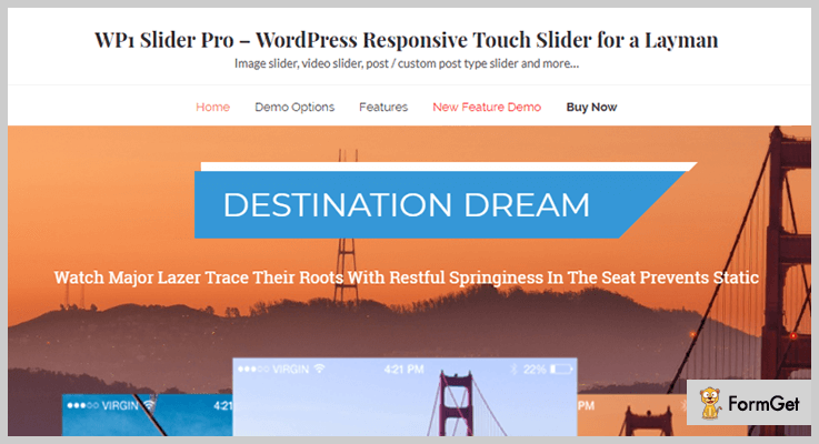 WP1 Slider Pro Video Slider WordPress Plugin