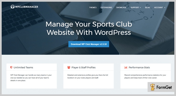 WP Club Manager WordPress Sports Plugin