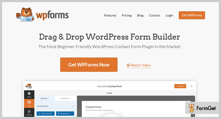 WP Forms Contact Form WordPress Plugin
