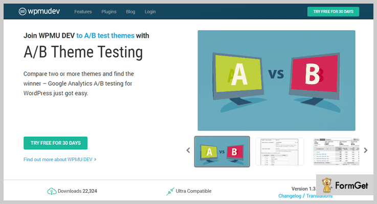 A/B Theme Testing WordPress Plugins By wpmudev