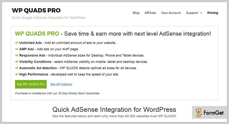 WP Quads Pro AdSense WordPress Plugin