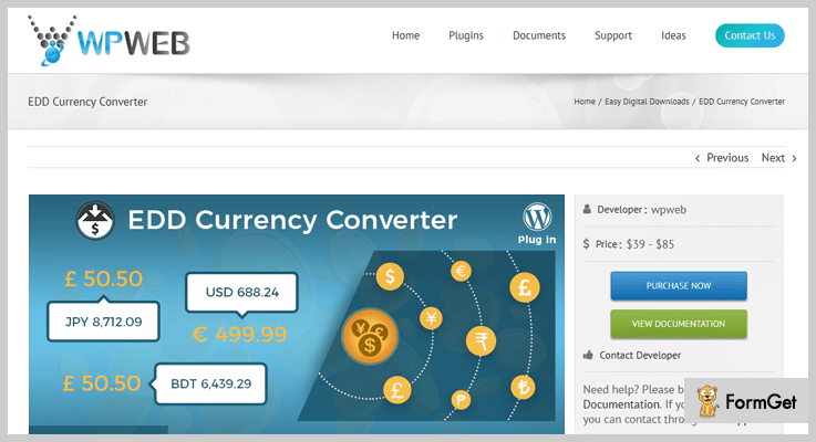 Easy Digital Downloads WordPress Currency Exchange Rate Plugin