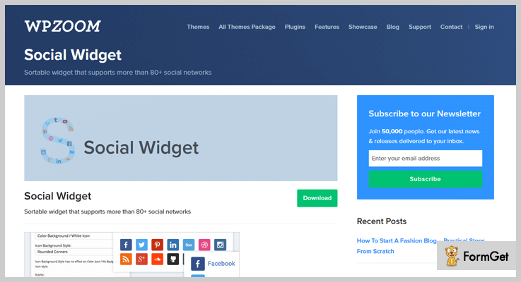Social Widget Widget WordPress Plugin