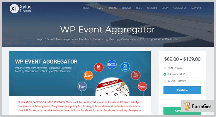 WP Event Aggregator WordPress Aggregator Plugins