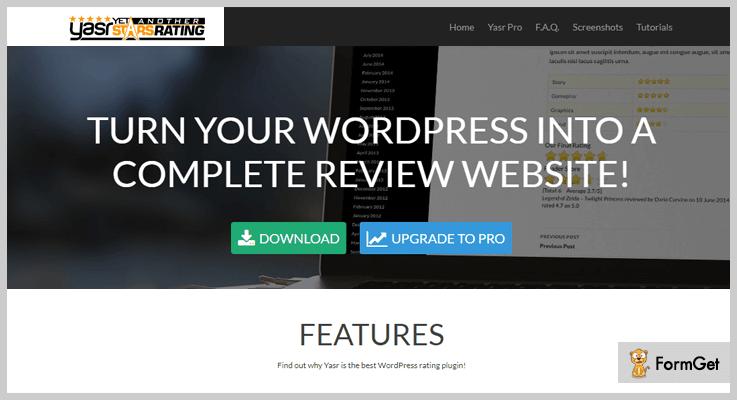 YASR Rating WordPress Plugin