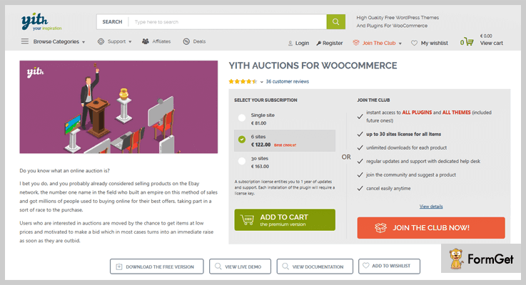 Yith Auction WordPress Plugin