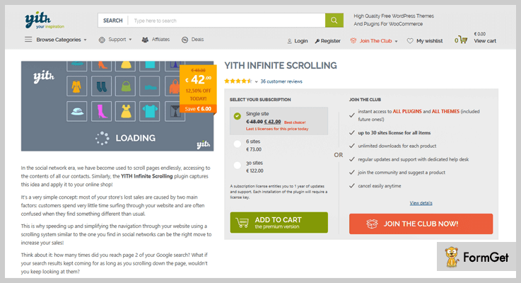 YITH WordPress Infinite Scroll Plugins