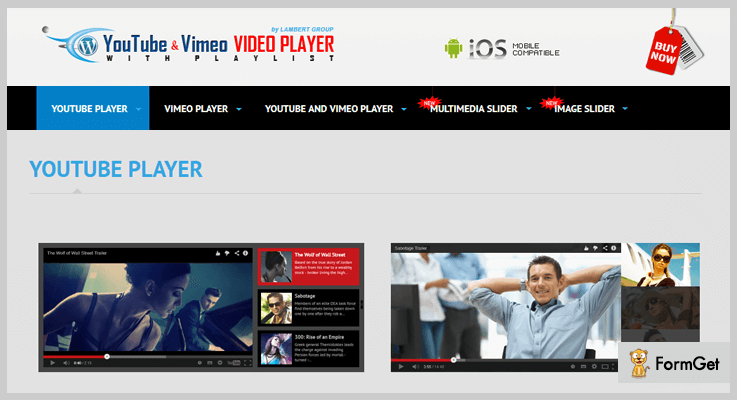 YouTube Vimeo Video Player And Slider Youtube Video Slider WordPress Plugins